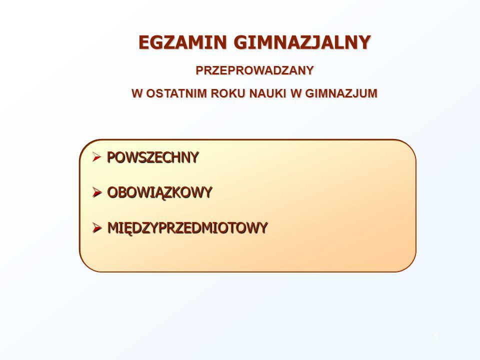 INSTYTUCJE ODPOWIEDZIALNE ZA PRZYGOTOWANIE I REALIZACJĘ SYSTEMU EGZAMINÓW ZEWNĘTRZNYCH CENTRALNA KOMISJA EGZAMINACYJNA w Warszawie - powołana przez sejm RP ustawą z dnia 25 lipca 1998 r.