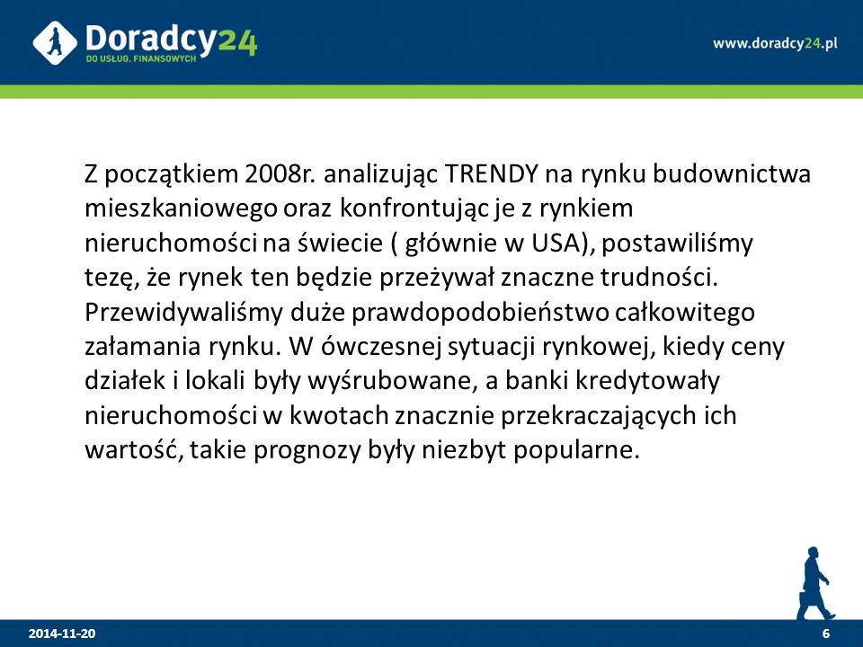 7 Nasze prognozy sprawdziły się jesienią 2008r.