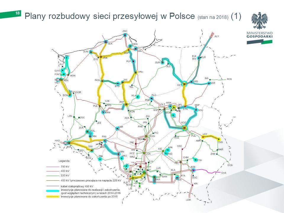 18 Plany rozbudowy sieci przesyłowej w Polsce (stan na 2018) (1)