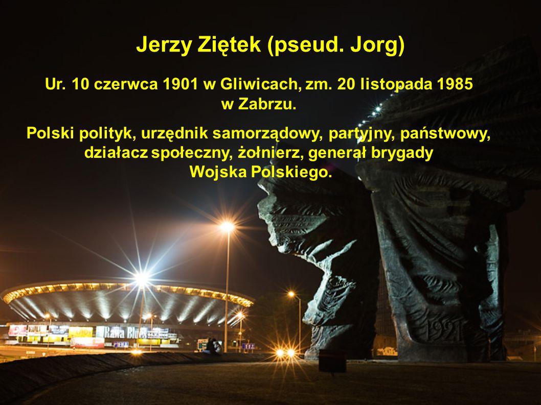 Jerzy Ziętek (pseud. Jorg) Ur. 10 czerwca 1901 w Gliwicach, zm. 20 listopada 1985 w Zabrzu. Polski polityk, urzędnik samorządowy, partyjny, państwowy,