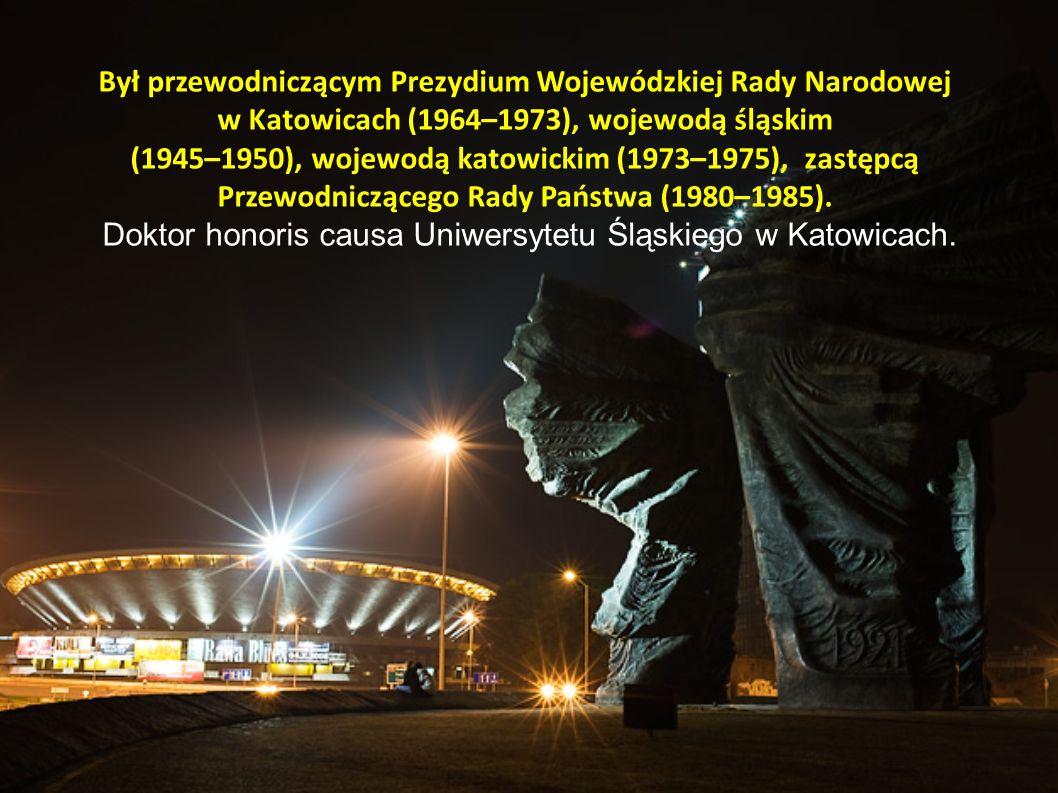 Był przewodniczącym Prezydium Wojewódzkiej Rady Narodowej w Katowicach (1964–1973), wojewodą śląskim (1945–1950), wojewodą katowickim (1973–1975), zas