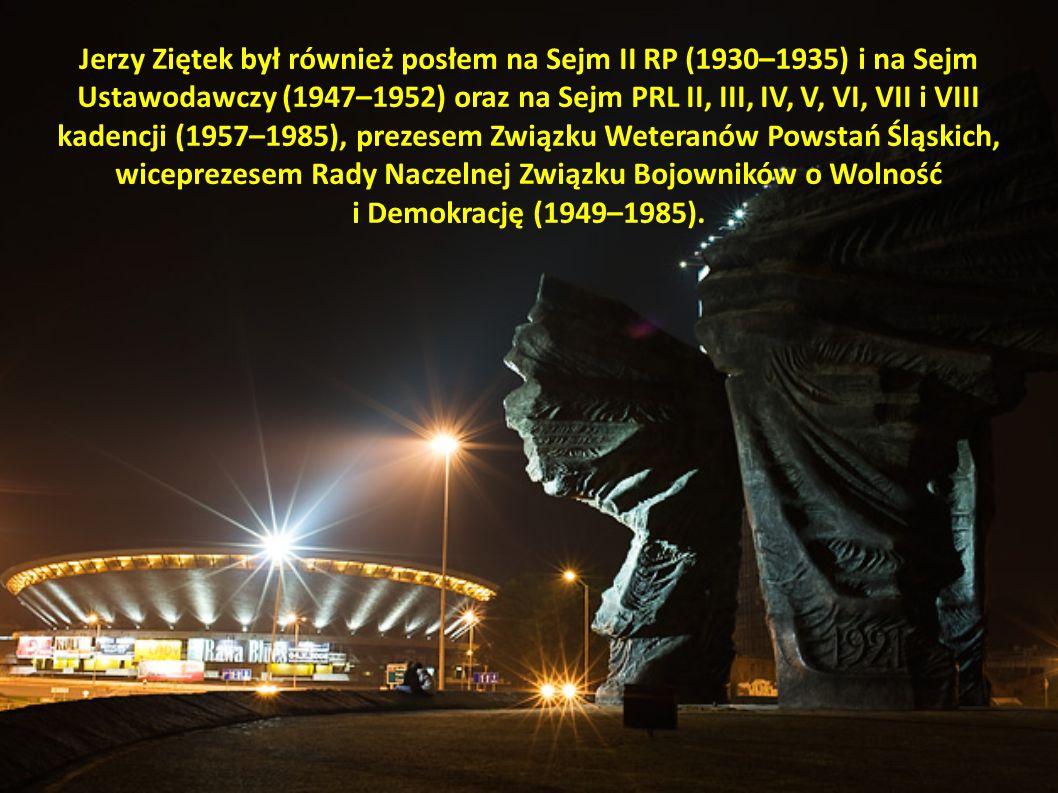 Jerzy Ziętek był również posłem na Sejm II RP (1930–1935) i na Sejm Ustawodawczy (1947–1952) oraz na Sejm PRL II, III, IV, V, VI, VII i VIII kadencji