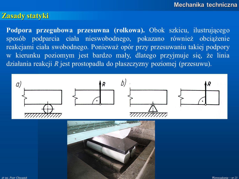 Wprowadzenie – nr 25 Mechanika techniczna dr inż.