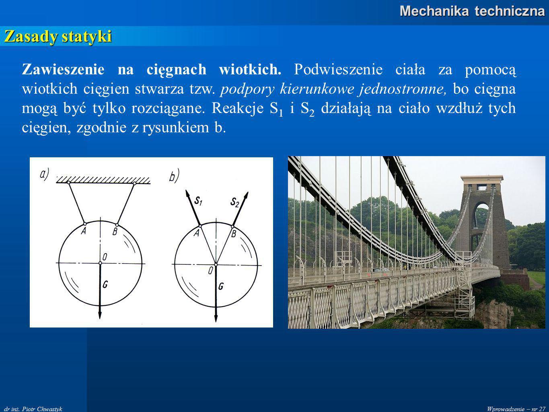 Wprowadzenie – nr 27 Mechanika techniczna dr inż.