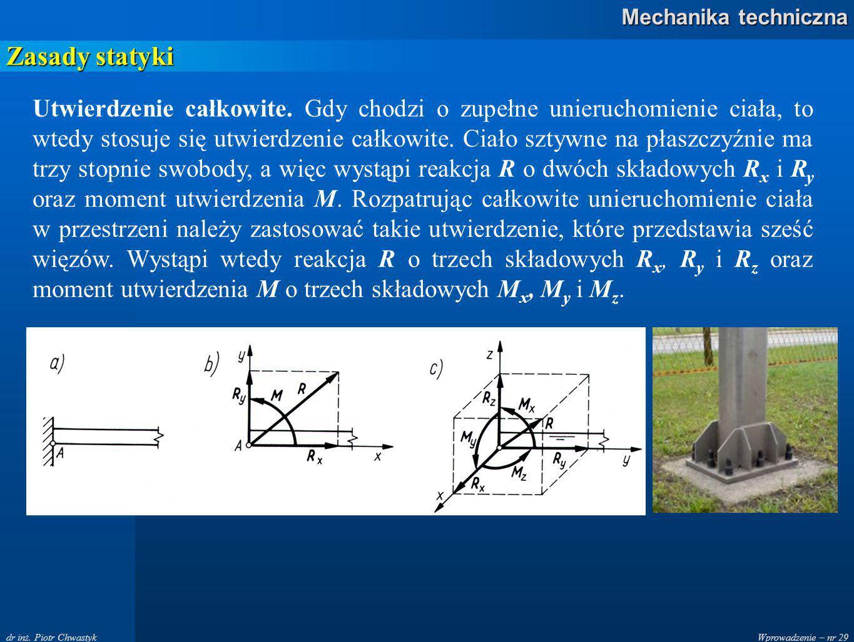 Wprowadzenie – nr 29 Mechanika techniczna dr inż.