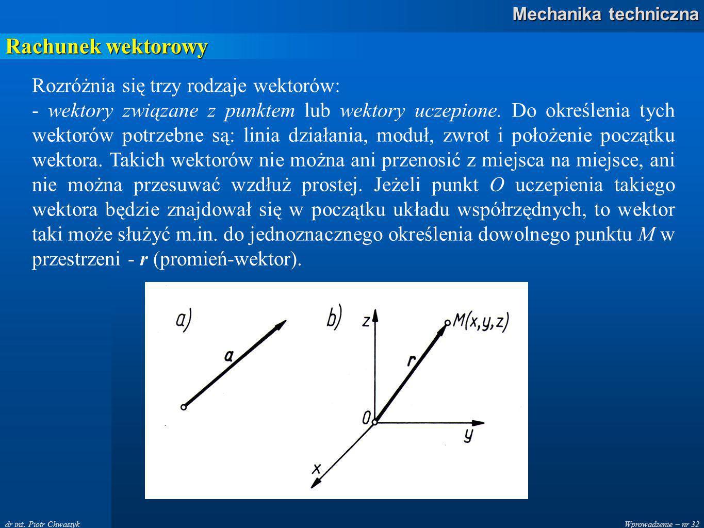 Wprowadzenie – nr 32 Mechanika techniczna dr inż.