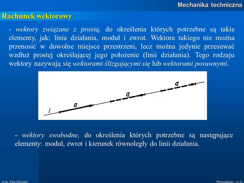 Wprowadzenie – nr 33 Mechanika techniczna dr inż.