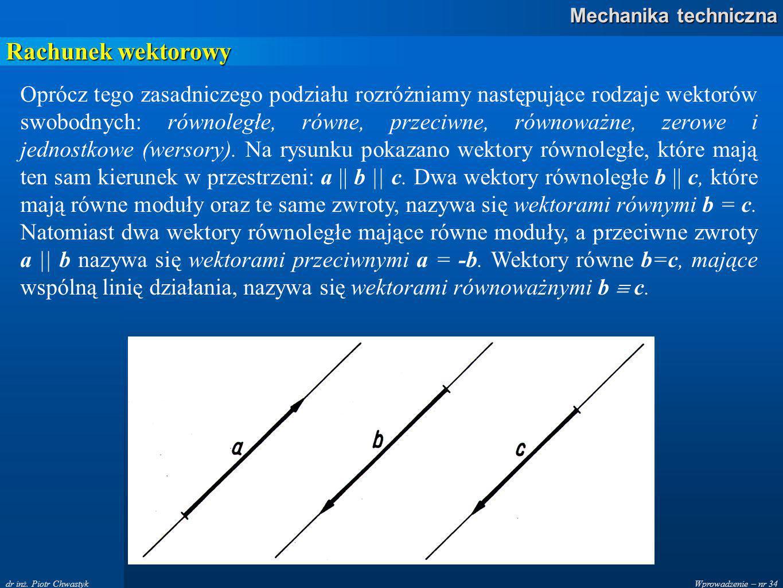 Wprowadzenie – nr 34 Mechanika techniczna dr inż.