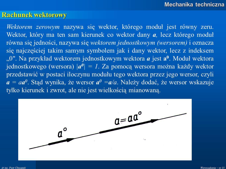 Wprowadzenie – nr 35 Mechanika techniczna dr inż.