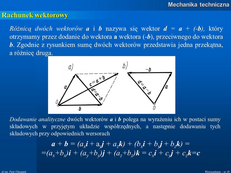 Wprowadzenie – nr 38 Mechanika techniczna dr inż.