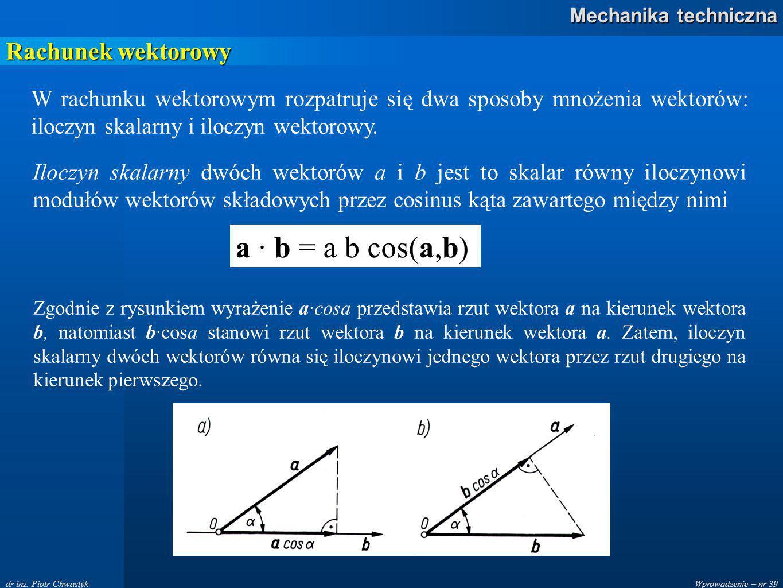 Wprowadzenie – nr 39 Mechanika techniczna dr inż.