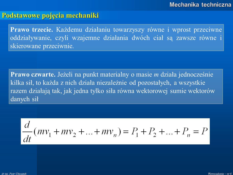 Wprowadzenie – nr 37 Mechanika techniczna dr inż.