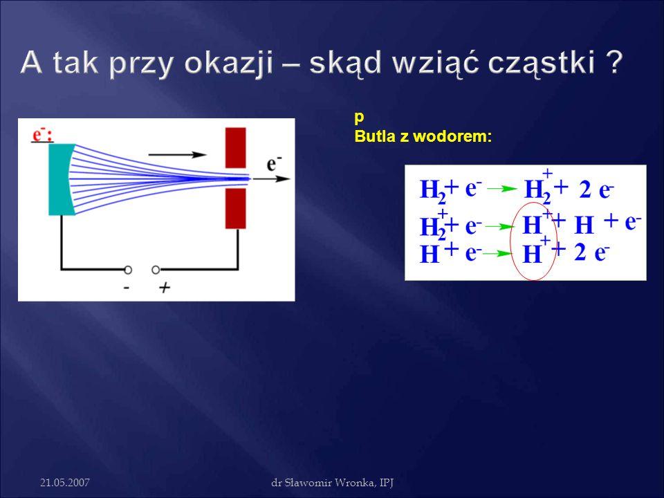 21.05.2007dr Sławomir Wronka, IPJ p Butla z wodorem: