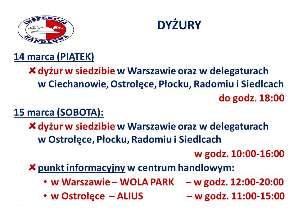 Dziękujemy za uwagę Wojewódzki Inspektorat Inspekcji Handlowej w Warszawie ul.