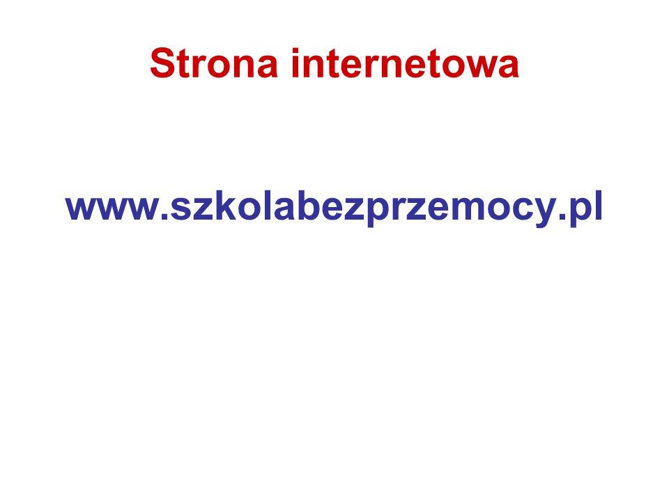 Strona internetowa www.szkolabezprzemocy.pl