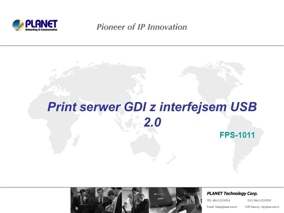 Print serwer GDI z interfejsem USB 2.0 FPS-1011