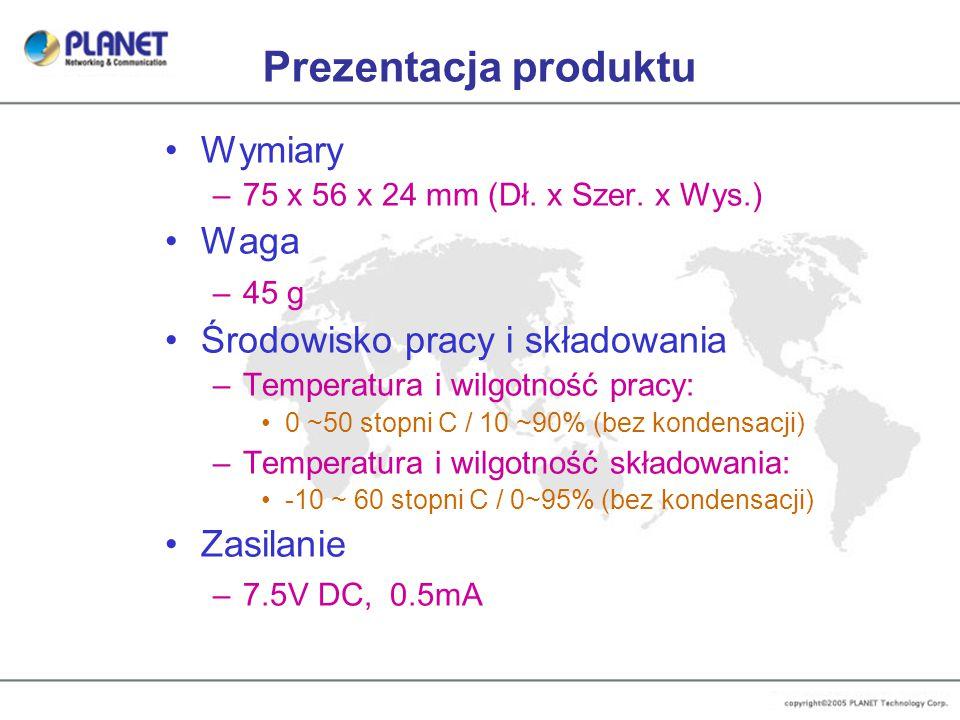Prezentacja produktu Wymiary –75 x 56 x 24 mm (Dł.