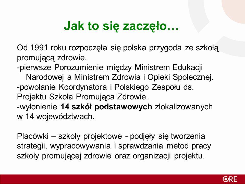 Jak to się zaczęło… Od 1991 roku rozpoczęła się polska przygoda ze szkołą promującą zdrowie.