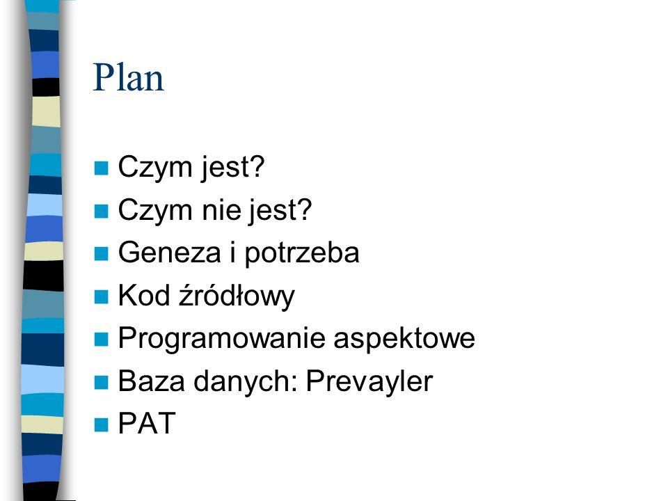 Plan Czym jest.Czym nie jest.