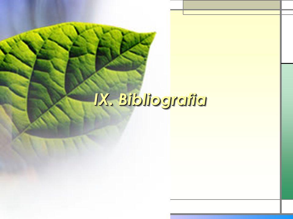 IX. Bibliografia