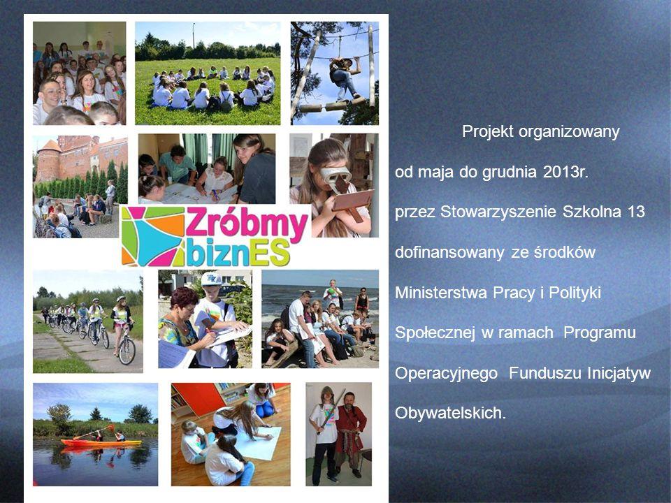 Projekt organizowany od maja do grudnia 2013r.