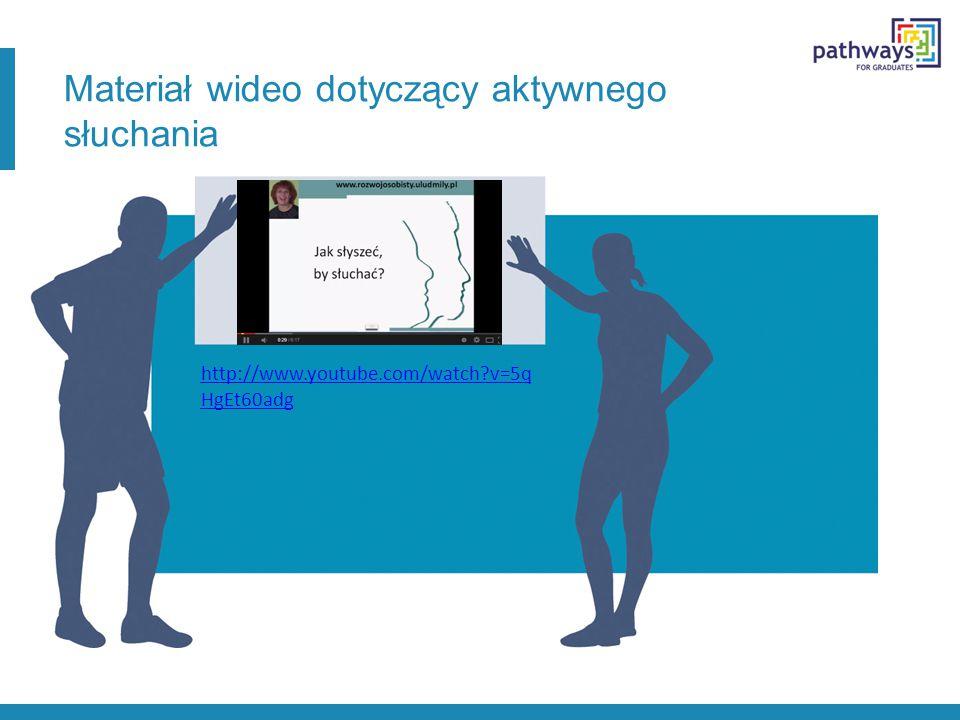 Materiał wideo dotyczący aktywnego słuchania http://www.youtube.com/watch?v=5q HgEt60adg