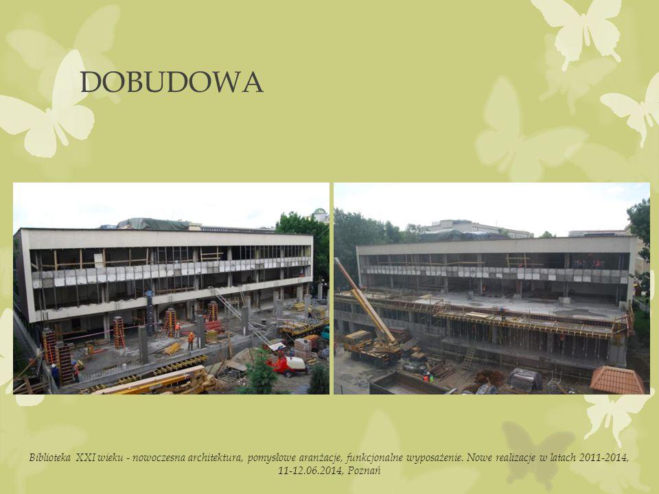 DOBUDOWA Biblioteka XXI wieku - nowoczesna architektura, pomysłowe aranżacje, funkcjonalne wyposażenie.