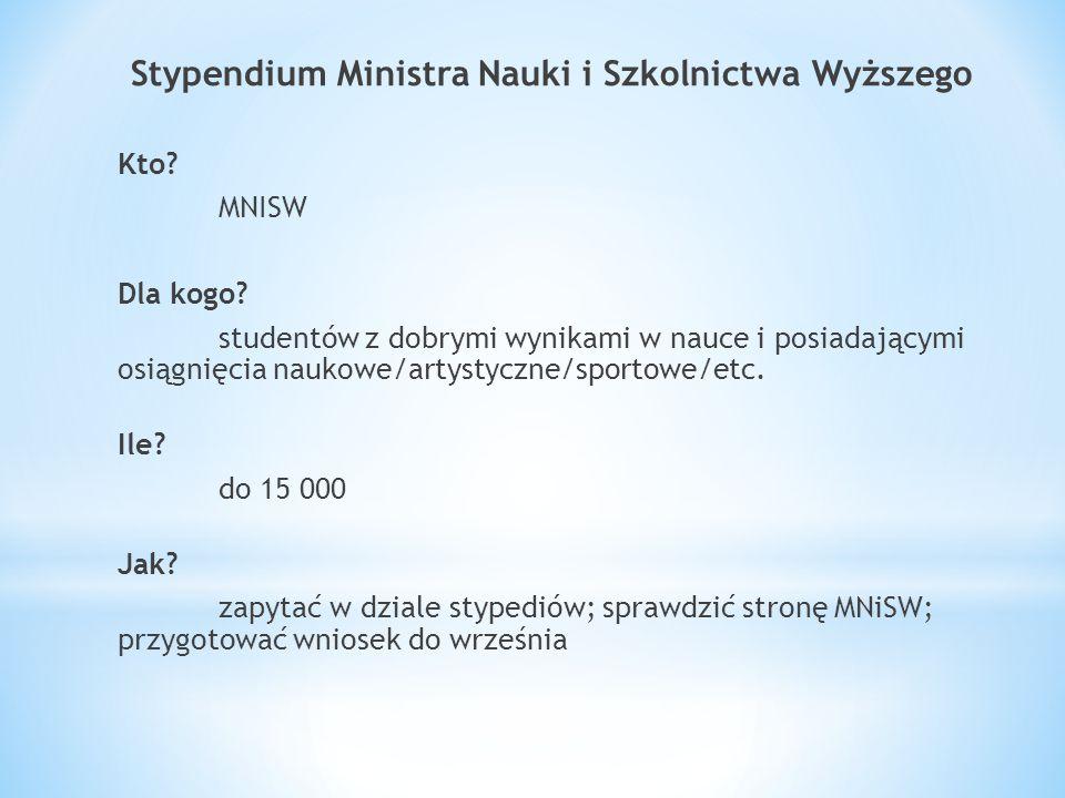 Stypendium Ministra Nauki i Szkolnictwa Wyższego Kto.