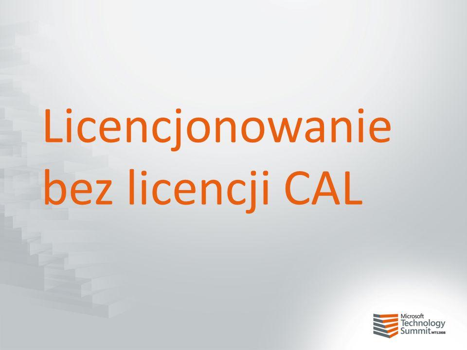 Licencjonowanie bez licencji CAL