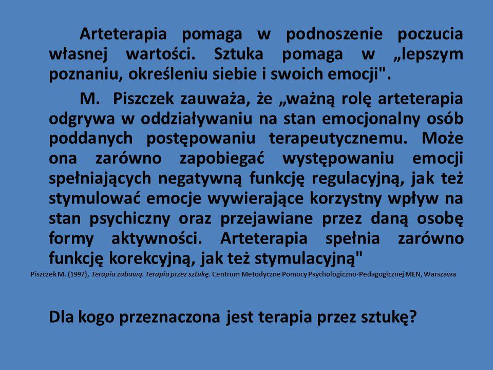 Metody i techniki stosowane w arteterapii: 1.
