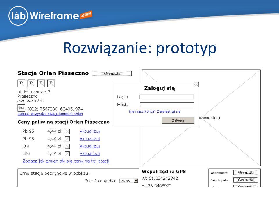 Rozwiązanie: prototyp