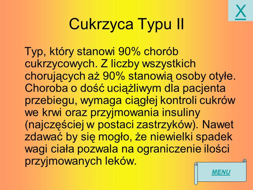 Cukrzyca Typu II Typ, który stanowi 90% chorób cukrzycowych.