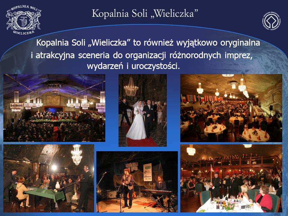 """Kopalnia Soli """"Wieliczka"""" to również wyjątkowo oryginalna i atrakcyjna sceneria do organizacji różnorodnych imprez, wydarzeń i uroczystości."""