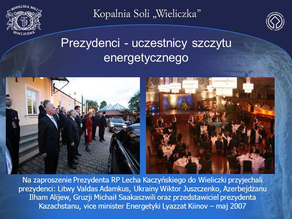 Prezydenci - uczestnicy szczytu energetycznego Na zaproszenie Prezydenta RP Lecha Kaczyńskiego do Wieliczki przyjechali prezydenci: Litwy Valdas Adamk