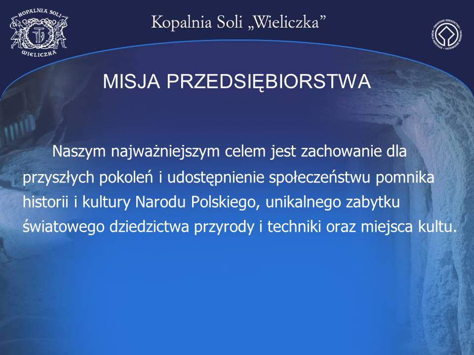 MISJA PRZEDSIĘBIORSTWA Naszym najważniejszym celem jest zachowanie dla przyszłych pokoleń i udostępnienie społeczeństwu pomnika historii i kultury Nar