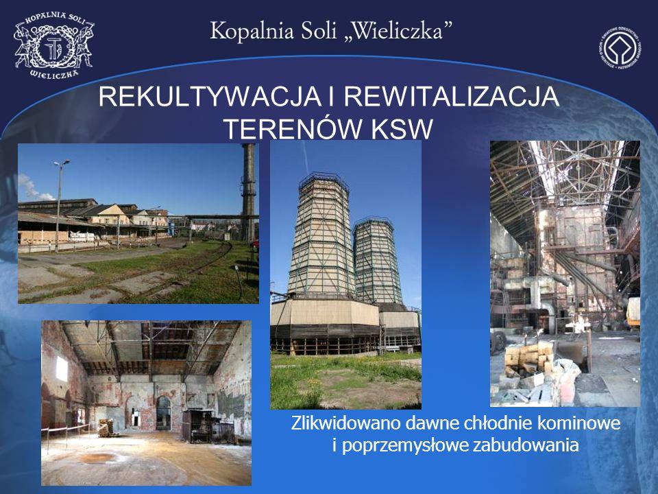 REKULTYWACJA I REWITALIZACJA TERENÓW KSW Zlikwidowano dawne chłodnie kominowe i poprzemysłowe zabudowania