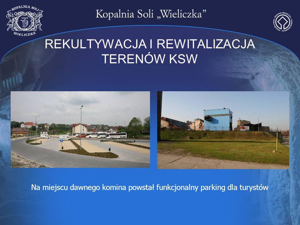 REKULTYWACJA I REWITALIZACJA TERENÓW KSW Na miejscu dawnego komina powstał funkcjonalny parking dla turystów