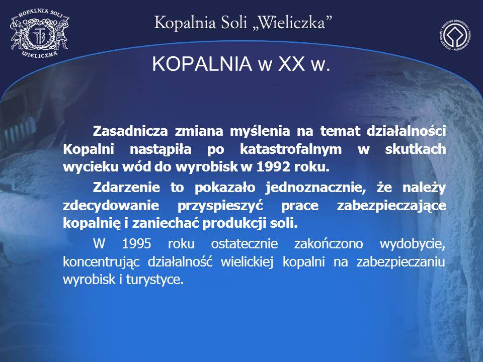 ELIMINACJA NAJBARDZIEJ NIEBEZPIECZNYCH WYCIEKÓW W Kopalni istnieje 186 zarejestrowanych wycieków powoduje to konieczność stałego odprowadzanie dopływających wód na powierzchnię i ich utylizację Ujęcie największego wycieku w kopalni – WVII-16 w komorze Fornalska II (poziom VII) Tama w poprzeczni Mina.