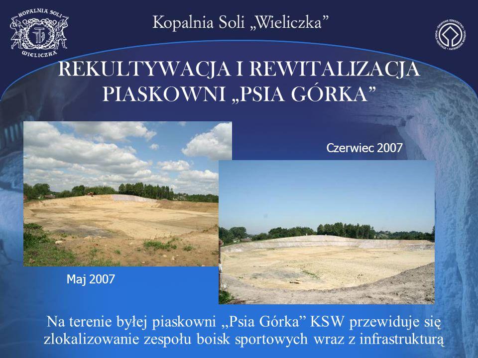 """Na terenie byłej piaskowni """"Psia Górka"""" KSW przewiduje się zlokalizowanie zespołu boisk sportowych wraz z infrastrukturą Maj 2007 Czerwiec 2007"""