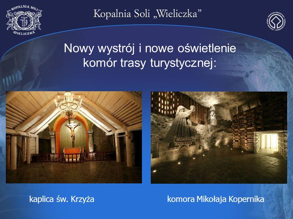 Nowy wystrój i nowe oświetlenie komór trasy turystycznej: kaplica św. Krzyżakomora Mikołaja Kopernika