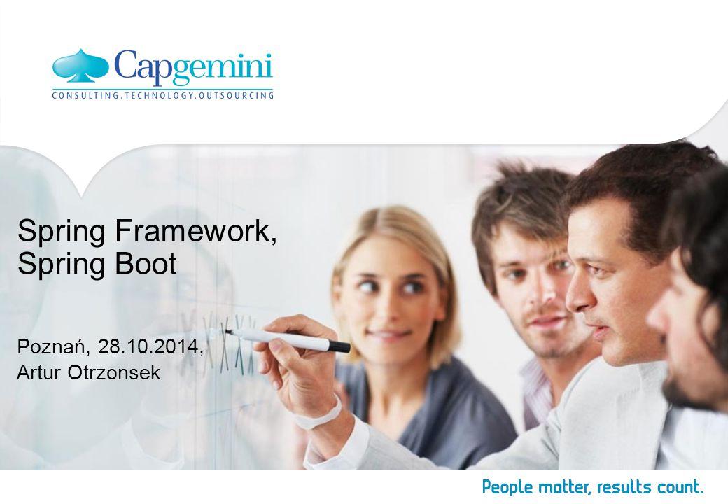 Spring Framework, Spring Boot Poznań, 28.10.2014, Artur Otrzonsek