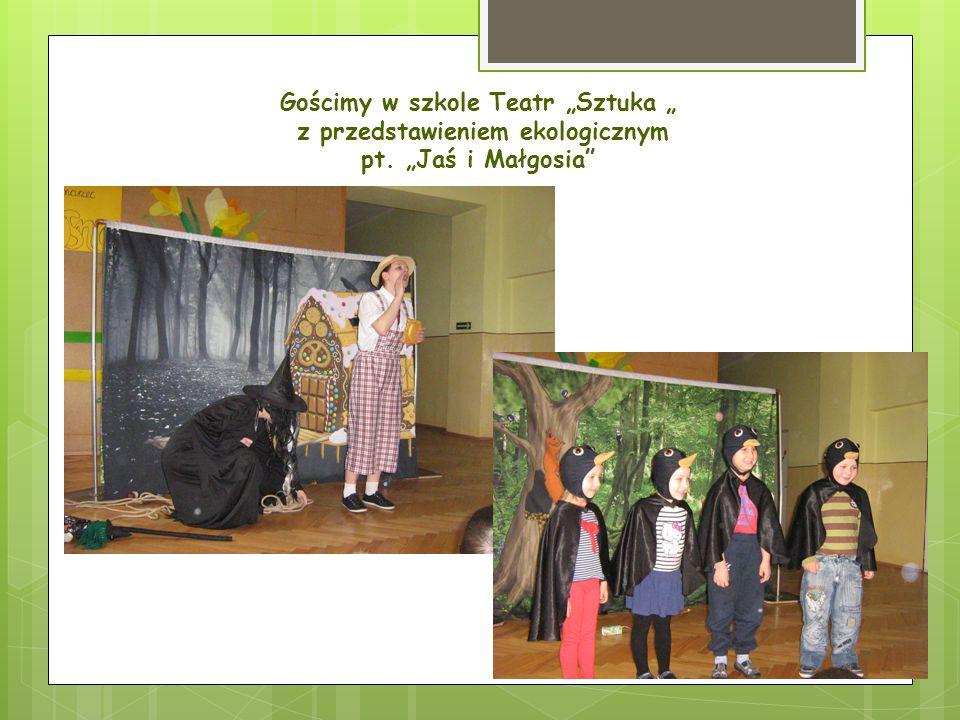 """Gościmy w szkole Teatr """"Sztuka """" z przedstawieniem ekologicznym pt. """"Jaś i Małgosia"""""""