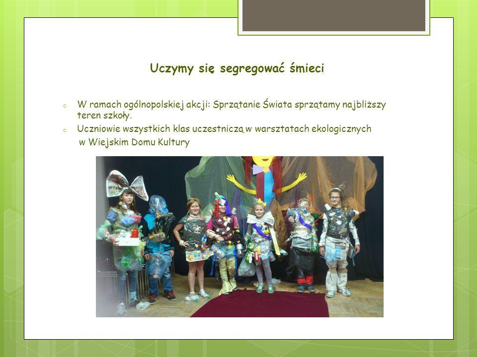 Zasady segregowania uczniowie poznają na lekcjach Zajęcia przyrody w klasie IV