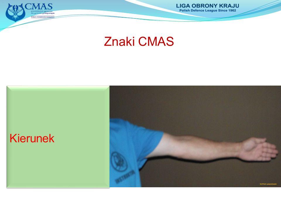 Znaki CMAS Kierunek