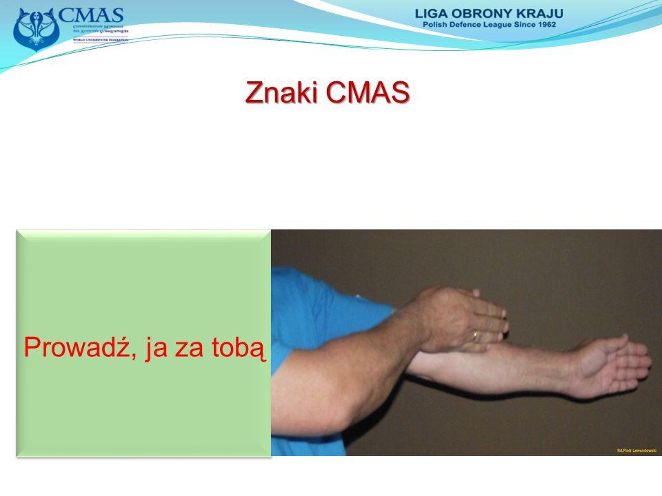 Znaki CMAS Prowadź, ja za tobą