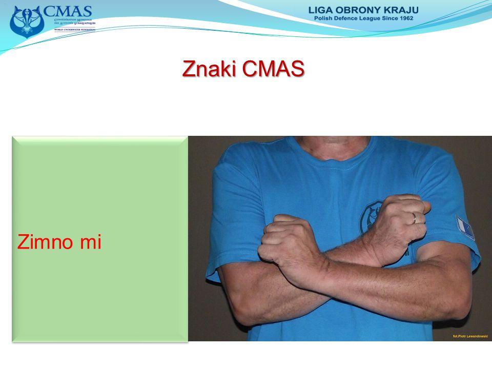 Znaki CMAS Zimno mi