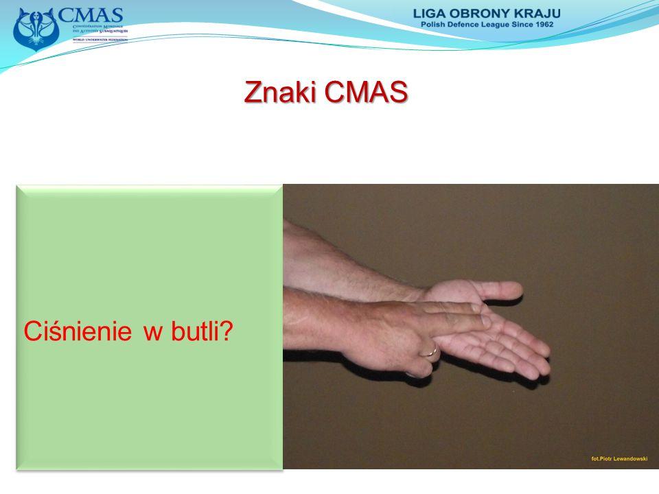 Znaki CMAS Ciśnienie w butli?