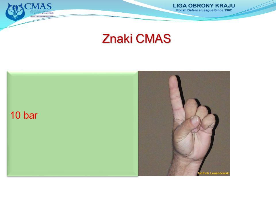 Znaki CMAS 10 bar