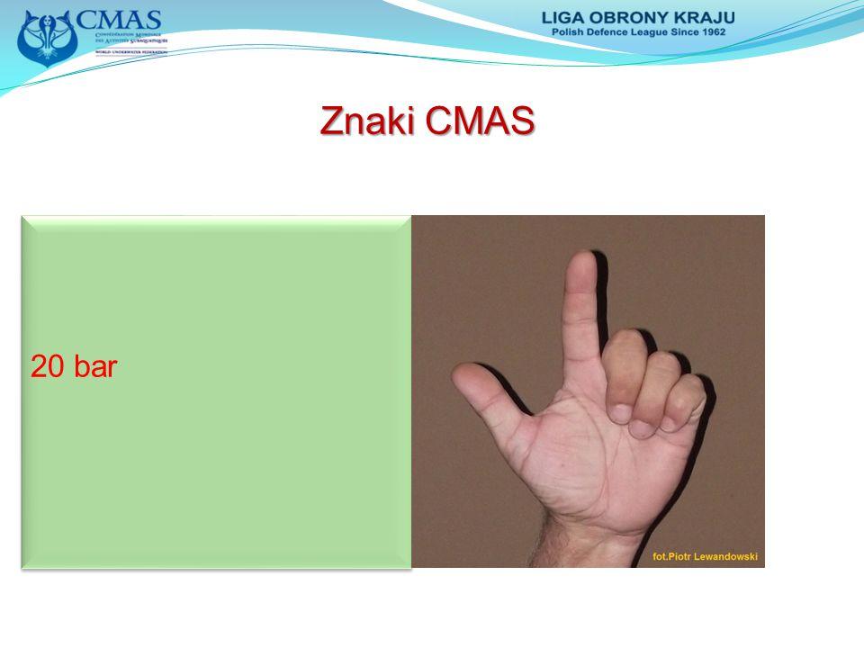 Znaki CMAS 20 bar