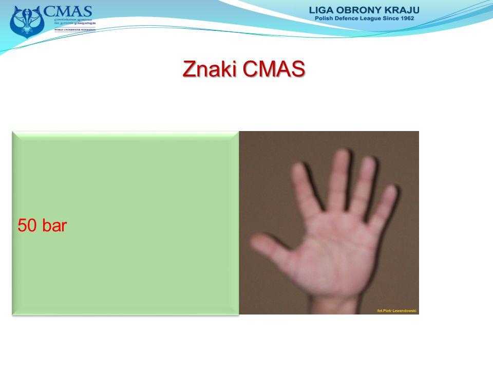 Znaki CMAS 50 bar